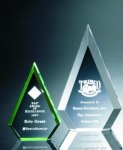 Beveled Peaks Acrylic Award Colored Acrylic Awards