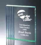 Fluted Side Acrylic Award Colored Acrylic Awards