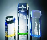 Hexagon Top Tower Acrylic Award Colored Acrylic Awards