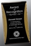 Black/Gold Standing Reflection Acrylic Award Recognition Plaque Employee Awards
