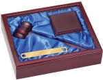Gavel Set Blue Liner Gavel and Sounding Blocks