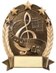 5 Star Oval -Music Music Trophy Awards