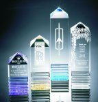Fluted Pillar Acrylic Award Obelisk Awards