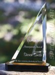 Spectacular Slant Color Accented Acrylic Award Presidential Acrylic Awards