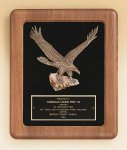 American Walnut Frame Plaque with Eagle Casting Religious Awards