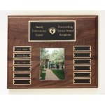 Walnut Perpetual Photo Plaque Religious Awards