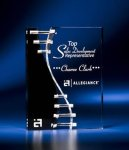 Wave Crevice Acrylic Award with Black Accent Sales Awards