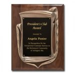 Antique Bronze Frame with walnut plaque Sales Awards