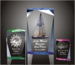 Faceted Rectangle Acrylic Award Sales Awards