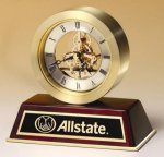 Rosewood Desk Clock Secretary Gift Awards
