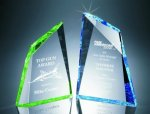 Faceted Mountain Cut Acrylic Award Summit Awards
