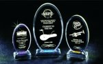 Beveled Oval Acrylic Award Traditional Acrylic Awards
