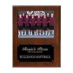 Team Sponsor Photo Plaque Walnut Plaques
